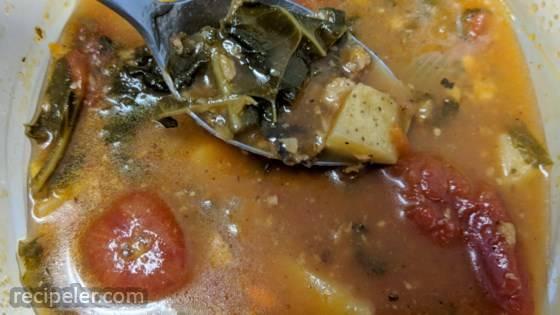 Vegan Portuguese Kale Soup
