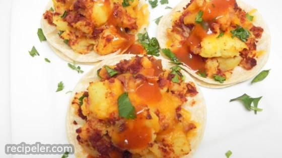 Vegan Potato Soy Chorizo Tacos