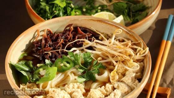 Vegetarian Pho (Vietnamese Noodle Soup)