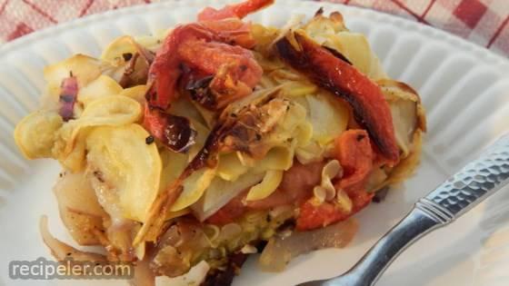 Vegetarian Potato and Squash Casserole