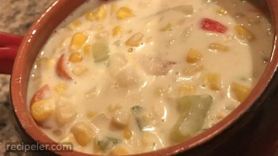 Vegetarian Slow Cooker Corn Chowder