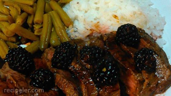 Venison with Blackberry Wine Sauce