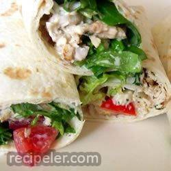 warm chicken ranch wraps