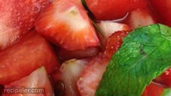 Watermelon, Strawberry, and Herbs