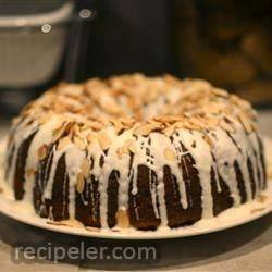 white chocolate amaretto cake