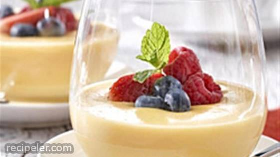 White Chocolate and Orange Pudding