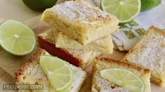 White Chocolate Lime Blondies