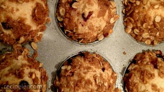 Whole Wheat Huckleberry Crumb Muffins