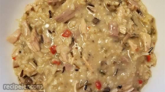 Wild Rice and Leftover Turkey Casserole