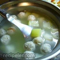 Winter Melon Meatball Soup