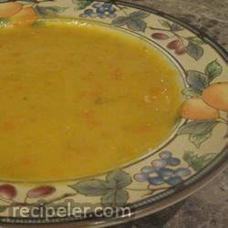 Yellow Split Pea and Frankfurter Soup