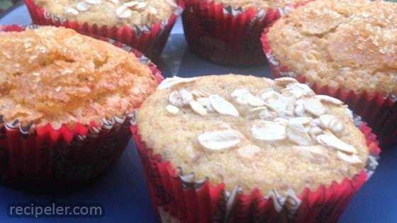 Yogurt, Banana, and Pear Muffins