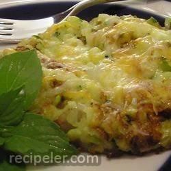 Zucchini and Onion Pancake