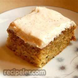 Zucchini Cake With Cream Cheese Applesauce Cing