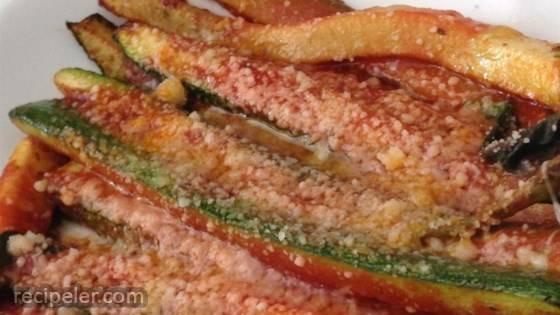 Zucchini Parmesan with Tomato Sauce