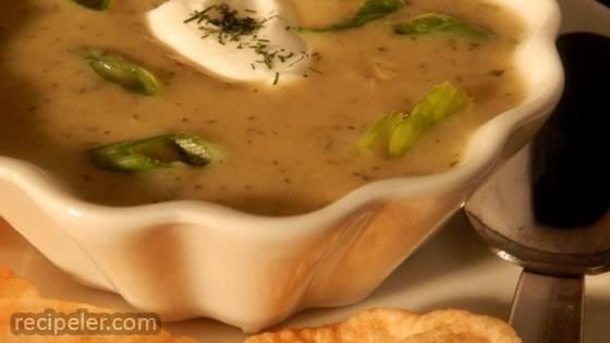 Zucchini Soup with Farina