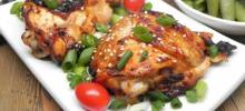 air fryer sesame chicken thighs