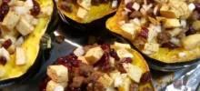 Apple and Sausage Stuffed Acorn Squash