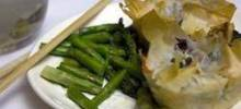 Asparagus and Mushroom Puff Pastry Pie