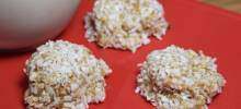 "awesome ""no-bake"" almond coconut balls"