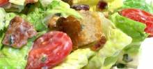 b.l.t. salad with basil mayo dressing