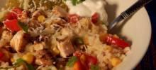 baja-style chicken bowl