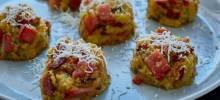 Baked Ham & Chive Mashed Potato Cakes
