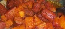 Baked Kielbasa and Potatoes in Sauce
