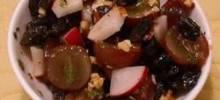 balsamic grape and walnut salad