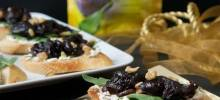 Balsamic Prune & Goat Cheese Bruschetta