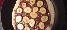 banana-nutella® tortilla pizza