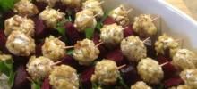beet salad on a stick