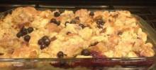 beth's blueberry bread pudding