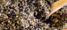 black sesame seed and walnut mix