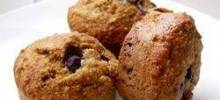 blueberry nut oat bran muffins
