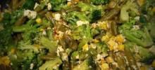 Broccoli, Corn, and Green Bean Saute