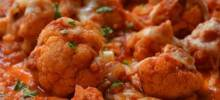 Broiled Cauliflower with Four Cheese Tomato Sauce