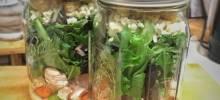buffalo chicken mason jar salads