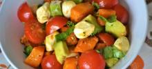 butternut squash caprese salad