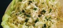 Cabbage Salad with Lemon-Garlic Dressing