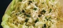 Cabbage Salad with Lemon-Garlic Dressing