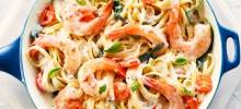 campbell's® one-pot linguine with bacon and shrimp