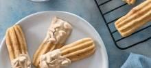 Caramel-Dipped Churro Cookies