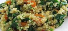 Carrot, Tomato, and Spinach Quinoa Pilaf