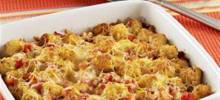 Cheesy Taco Potato Puff Casserole