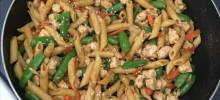 Chicken and Snow Pea Pasta