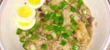 chicken arroz caldo (chicken rice porridge)