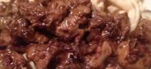 Chicken Livers Stroganoff