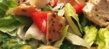 chicken pesto saladizza