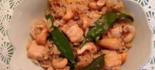 Chicken, Snow Pea, and Cashew Fried Rice